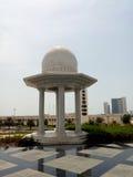 Sheikh Zayed Mosque-Abu Dhabi yttersida Arkivbilder