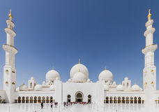 Sheikh Zayed Mosque Behide The Entrance, The Great Marble Grand Mosque at Abu Dhabi, UAE Stock Photography
