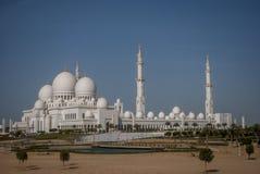Sheikh Zayed Mosque bei Abu Dhabi, UAE, Uniter-Araber-Emirate Lizenzfreie Stockbilder