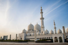 Sheikh Zayed Mosque bei Abu Dhabi, UAE, Uniter-Araber-Emirate Lizenzfreie Stockfotografie