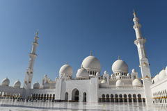 Sheikh Zayed Mosque en Abu Dhabi, United Arab Emirates i, UAE Imagenes de archivo