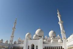 Sheikh Zayed Mosque en Abu Dhabi, United Arab Emirates i, UAE Fotografía de archivo libre de regalías