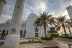Sheikh Zayed Mosque. Exterior of Sheikh Zayed Mosque in Abu Dhabi, United Arab Emirates Royalty Free Stock Images