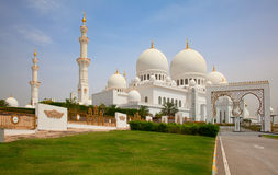 Sheikh Zayed mosque. Famous Sheikh Zayed mosque in Abu Dhabi, United Arab Emirates stock photos