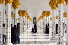 Sheikh Zayed Mosque. The grand mosque in abu dhabi Stock Photo