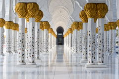 Sheikh Zayed Mosque. The grand mosque in abu dhabi Stock Photography