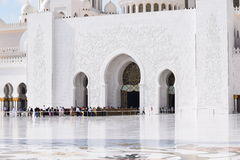 Sheikh Zayed Mosque. The grand mosque in abu dhabi Royalty Free Stock Photography