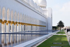 Sheikh Zayed Mosque. The grand mosque in abu dhabi Royalty Free Stock Images