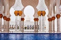 Sheikh Zayed Mosque il 5 giugno 2013 in Abu Dhabi. Fotografie Stock Libere da Diritti