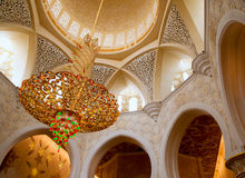 Sheikh Zayed mosque inside Stock Images