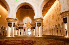 Sheikh Zayed mosque inside Stock Photos