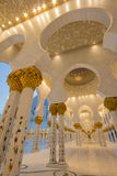 Sheikh Zayed Mosque. Interior of Sheikh Zayed Mosque in Abu Dhabi, United Arab Emirates Stock Photography