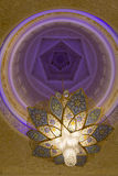 Sheikh Zayed Mosque. Interior of Sheikh Zayed Mosque in Abu Dhabi, United Arab Emirates Stock Photo