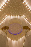 Sheikh Zayed Mosque. Interior of baths in Sheikh Zayed Mosque in Abu Dhabi, United Arab Emirates Royalty Free Stock Images
