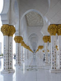 Sheikh Zayed Mosque interiors. Interior of Sheikh Zayed Mosque Stock Photography