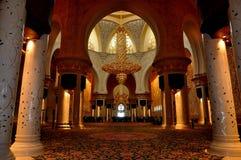 Sheikh Zayed Mosque interno Immagini Stock