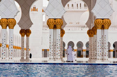 Sheikh Zayed Mosque on June 5, 2013 in Abu Dhabi. Stock Photo