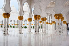 Sheikh Zayed Mosque on June 5, 2013 in Abu Dhabi. Royalty Free Stock Image