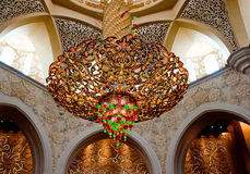 Sheikh Zayed Mosque on June 5, 2013 in Abu Dhabi. Royalty Free Stock Images