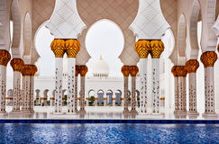 Sheikh Zayed Mosque on June 5, 2013 in Abu Dhabi. Royalty Free Stock Photos