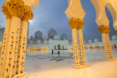 Sheikh Zayed Mosque. Landmark muslim mosque in Abu Dhabi Stock Images