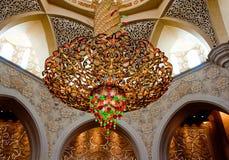 Sheikh Zayed Mosque le 5 juin 2013 en Abu Dhabi. Images libres de droits