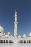Sheikh Zayed Mosque Left Wing View From the Inside, The Great Marble Grand Mosque at Abu Dhabi, UAE Stock Image