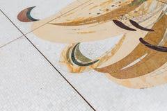 Sheikh Zayed Mosque Marble Floor Decorated, die große großartige Marmorierungmoschee bei Abu Dhabi, UAE Stockbild