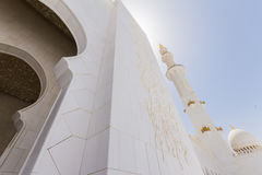 Sheikh Zayed Mosque mit arabischer Geometrie-Dekoration, die große großartige Marmorierungmoschee bei Abu Dhabi, UAE Lizenzfreie Stockbilder