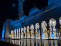 Sheikh Zayed Mosque Moon Stock Photography