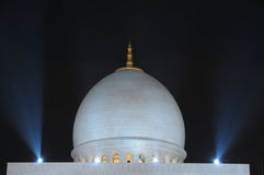Sheikh Zayed Mosque at night Royalty Free Stock Photography