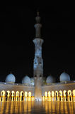 Sheikh Zayed Mosque at night Stock Photo