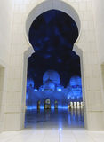 Sheikh Zayed Mosque at night, Abu Dhabi Royalty Free Stock Images