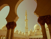 Sheikh Zayed Mosque Retro Royalty Free Stock Photo