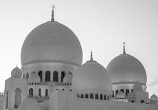 Sheikh Zayed Mosque UAE Arkivbild