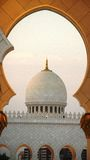 Sheikh Zayed Mosque golden look  ,UAE Stock Photography