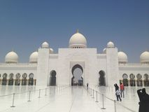 Sheikh Zayed Mosque. United Arab  Emirates Royalty Free Stock Photography