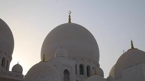Sheikh Zayed Mosque, United Arab Emirates. stock video footage