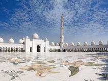 Sheikh Zayed Mosque and Veranda Royalty Free Stock Photo