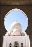 Sheikh Zayed Mosque (weiße Moschee) in Abu Dhabi, UAE Stockfotos