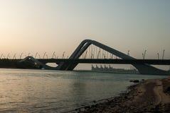 Sheikh Zayed Ponte, Abu Dhabi Fotografia de Stock Royalty Free