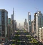 Sheikh Zayed Raod Dubai Photographie stock libre de droits
