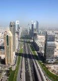 Sheikh Zayed Raod Dubai Stock Images