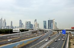 Sheikh Zayed Road Fotografie Stock