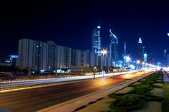 Sheikh zayed road Royalty Free Stock Photo