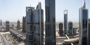 Sheikh Zayed Road Aerial View Royalty Free Stock Image