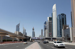 Sheikh Zayed Road in Dubai Stock Photography
