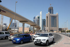 Sheikh Zayed Road in Dubai Royalty Free Stock Images