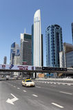 Sheikh Zayed Road in Dubai Stock Image