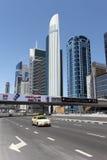Sheikh Zayed Road in Dubai Stock Image